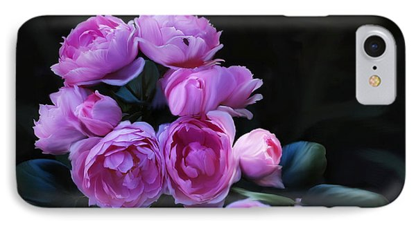 IPhone Case featuring the painting Peoni Cluster by Elaine Manley