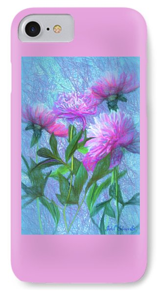 IPhone Case featuring the digital art Peonies #3 by John Selmer Sr