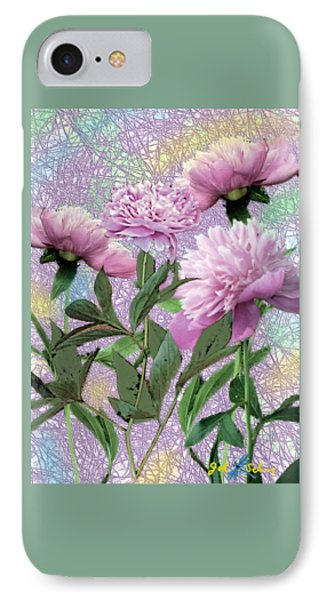 Peonies 6 IPhone Case by John Selmer Sr