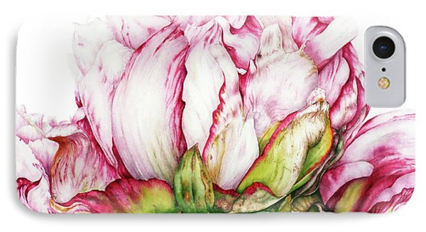 Peonies IPhone Case by Marie Burke