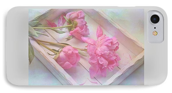 IPhone Case featuring the photograph Peonies In White Box by Diane Alexander