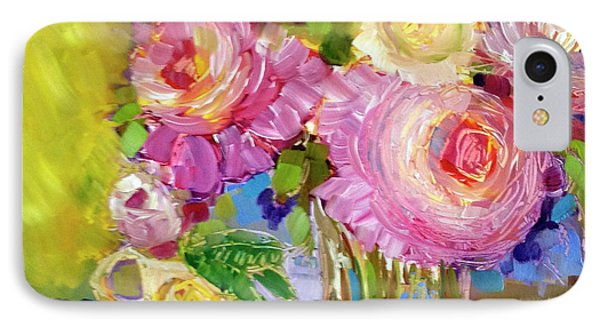 IPhone Case featuring the painting Peony Love by Rosemary Aubut