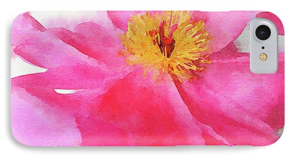 IPhone Case featuring the digital art Peony by Mark Greenberg