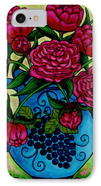 Peony Party Phone Case by Lisa  Lorenz