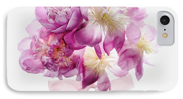 IPhone Case featuring the photograph Peony Pink Squared by Rebecca Cozart