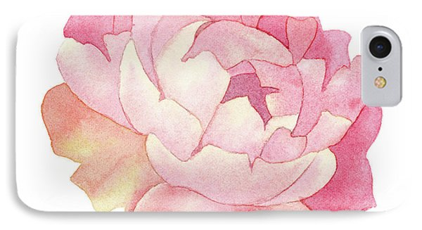 IPhone Case featuring the painting Peony Watercolor  by Taylan Apukovska