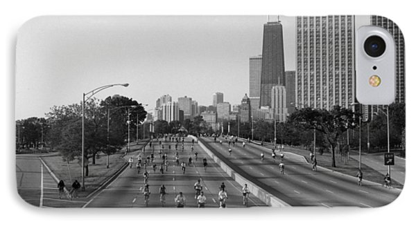 People Cycling On A Road, Bike The IPhone Case by Panoramic Images