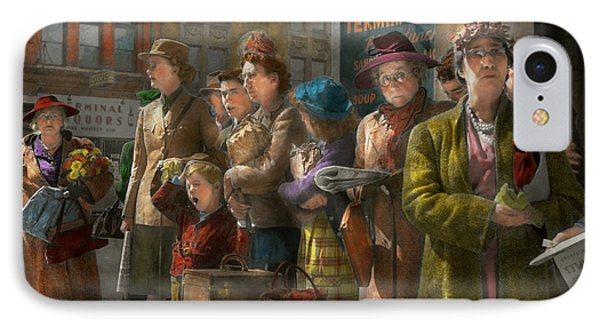 People - People Waiting For The Bus - 1943 IPhone Case
