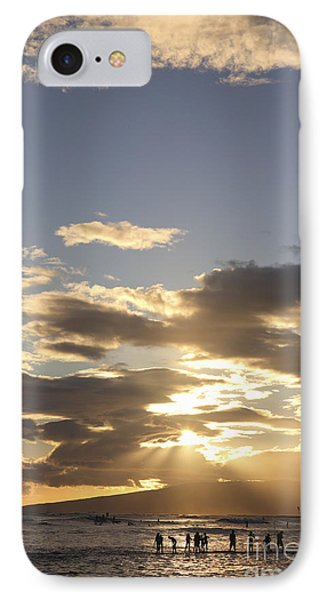 People Silhouette Sunset Phone Case by Brandon Tabiolo - Printscapes