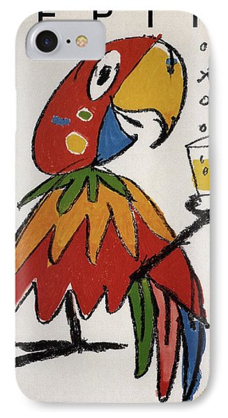 Parakeet iPhone 7 Case - Pepita - Grapefruit Drinks - Vintage Advertising Poster by Studio Grafiikka