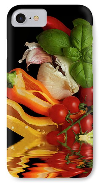 IPhone Case featuring the photograph Peppers Basil Tomatoes Garlic by David French