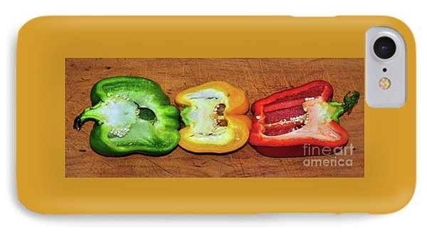 IPhone Case featuring the photograph Peppers In A Row By Kaye Menner by Kaye Menner