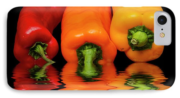 IPhone Case featuring the photograph Peppers Red Yellow Orange by David French