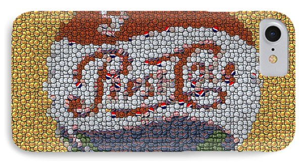 Pepsi Bottle Cap Mosaic Phone Case by Paul Van Scott