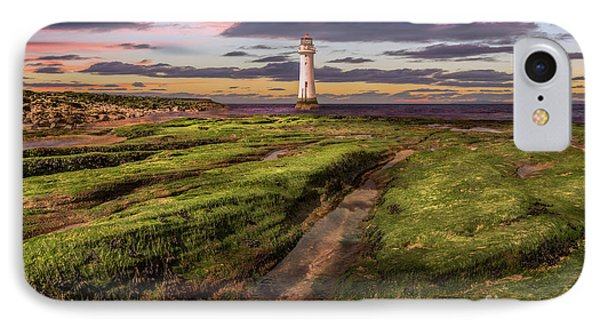 Perch Rock Lighthouse Sunset IPhone Case by Adrian Evans