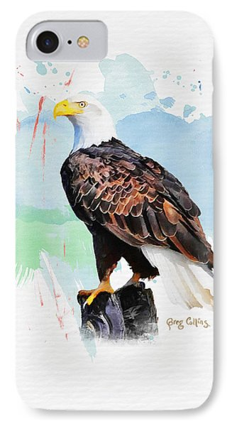 Perched Eagle IPhone Case by Greg Collins