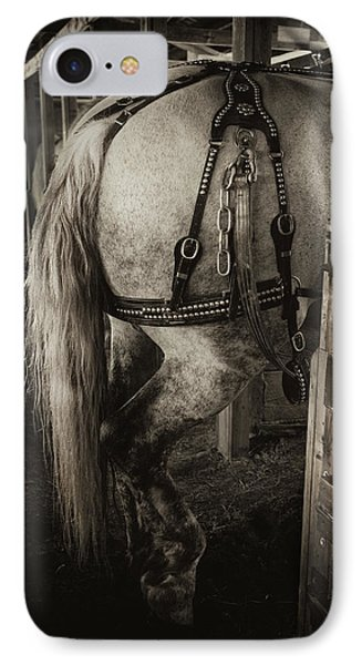IPhone Case featuring the photograph Percheron Draft Horse by Theresa Tahara
