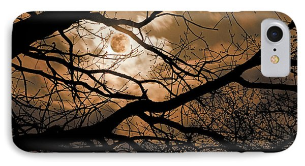 Perigee Moon In The Trees Phone Case by Tamyra Ayles