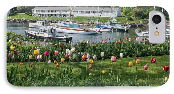 Perkins Cove Tulips IPhone Case by Joseph Smith