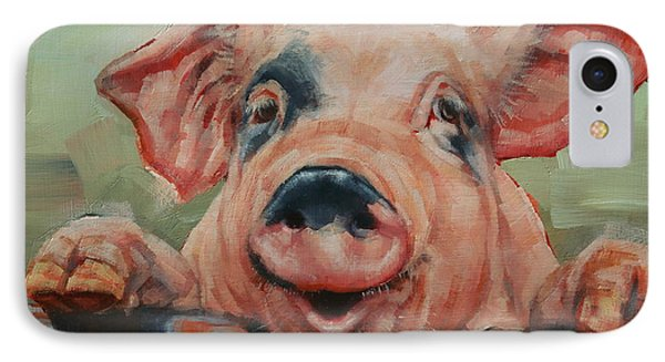 Perky Pig IPhone Case by Margaret Stockdale