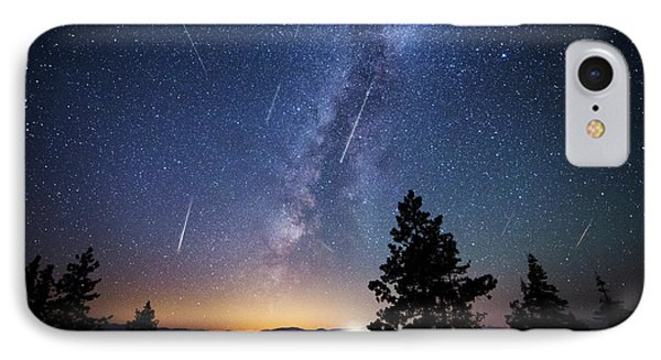 IPhone Case featuring the photograph Perseid Meteor Shower From Tahoe by Brad Scott