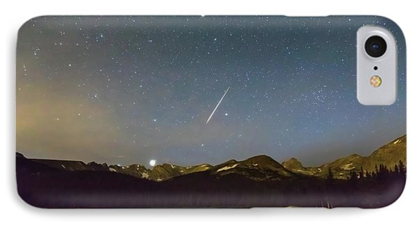IPhone Case featuring the photograph Perseid Meteor Shower Indian Peaks by James BO Insogna