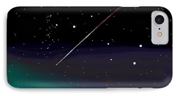 Perseid Meteor Shower  IPhone Case by Jean Pacheco Ravinski