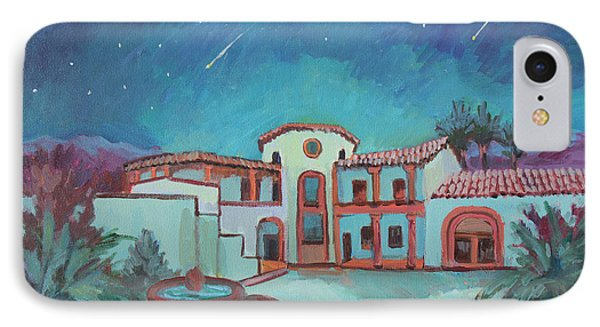 IPhone Case featuring the painting Perseids Meteor Shower From La Quinta Museum by Diane McClary