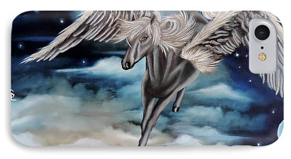 Perseus The Pegasus IPhone Case by Dianna Lewis