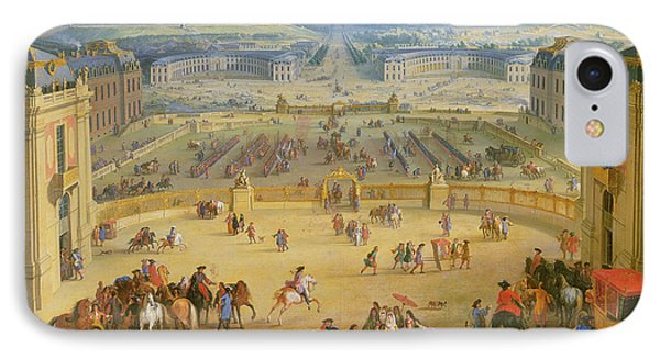 Perspective View From The Chateau Of Versailles IPhone Case by Jean-Baptiste Martin
