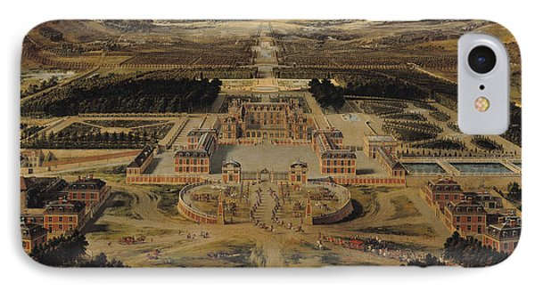 Perspective View Of The Chateau Gardens And Park Of Versailles IPhone Case