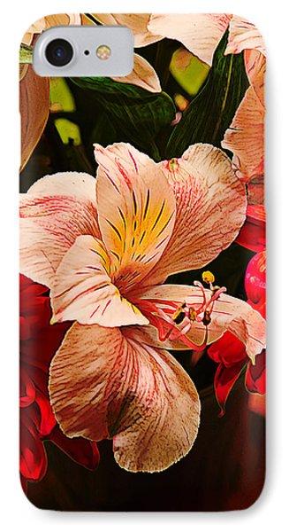 Peruvian Lily Grain Phone Case by Bill Tiepelman