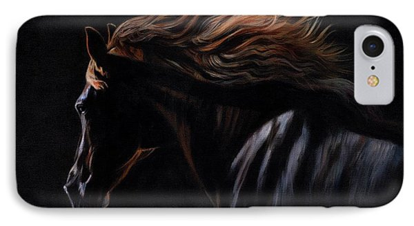 IPhone Case featuring the painting Peruvian Paso Horse by David Stribbling