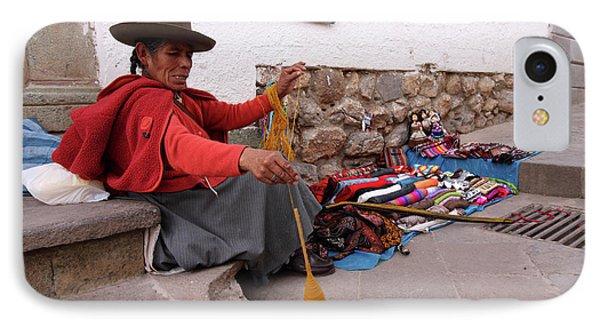 IPhone Case featuring the photograph Peruvian Weaver by Aidan Moran