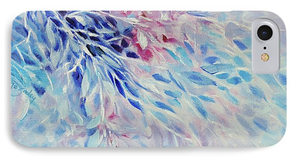 IPhone Case featuring the painting Petals And Ice by Joanne Smoley