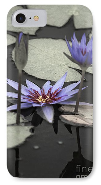 Petals Floating On Water IPhone Case by Ella Kaye Dickey