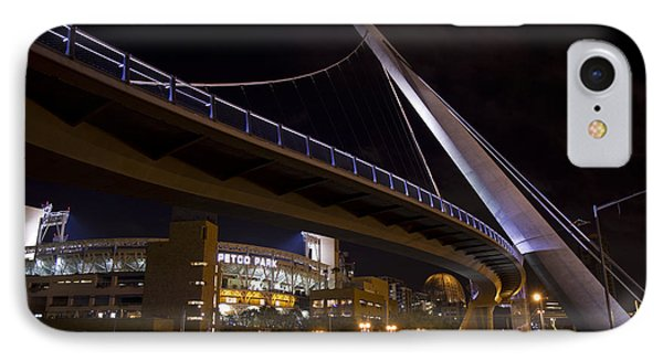 IPhone Case featuring the photograph Petco Park And The Pedestrian Bridge by Nathan Rupert