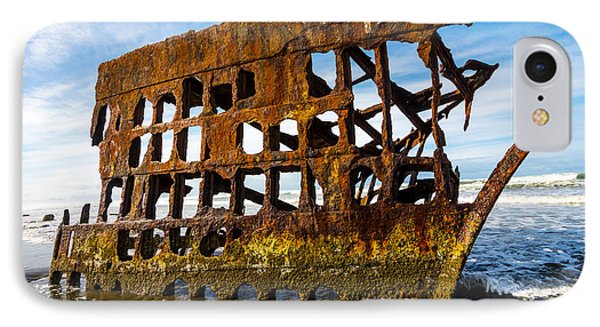 Peter Iredale Shipwreck - Oregon Coast Phone Case by Gary Whitton
