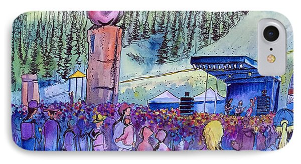 IPhone Case featuring the painting Peter Rowen At Copper Mountain by David Sockrider