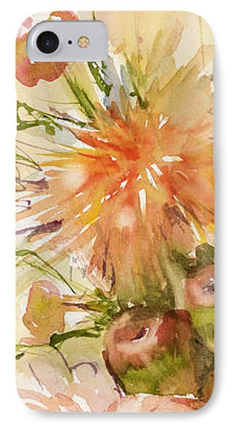 Petite Apples In Floral IPhone Case by Judith Levins