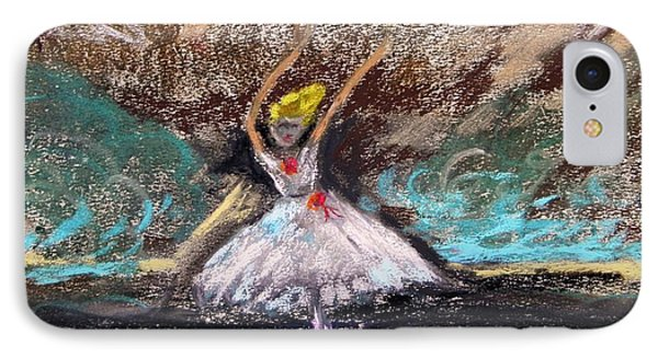 IPhone Case featuring the painting Petite Ballerina by Mary Carol Williams
