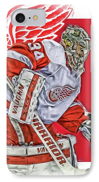Petr Mrazek Detroit Red Wings Oil Art IPhone Case