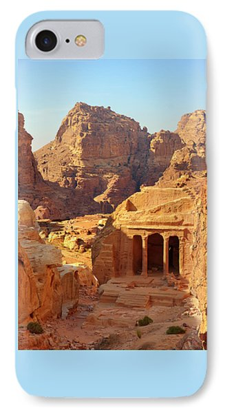 Petra Buildings, Pond And Gardens Complex IPhone Case by Nicola Nobile