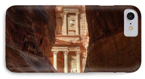 Petra Treasury Revealed Phone Case by Nigel Fletcher-Jones