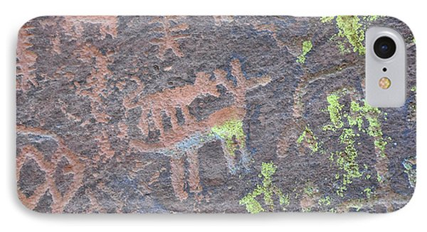 Petroglyph Wolf Attack IPhone Case