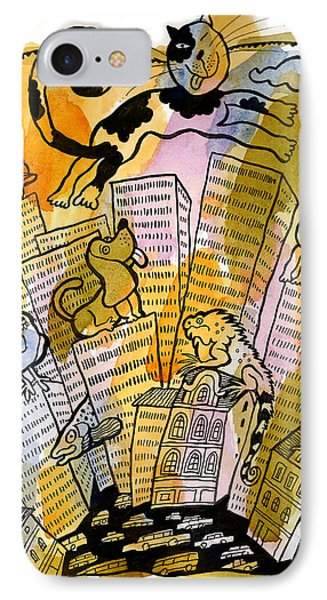 Pets And The City IPhone Case by Leon Zernitsky