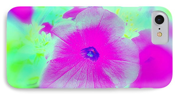 IPhone Case featuring the photograph Petunia Glow E by Greg Moores
