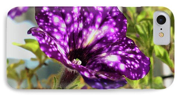 petunia nightsky,Helloween colors  IPhone Case by Tamara Sushko