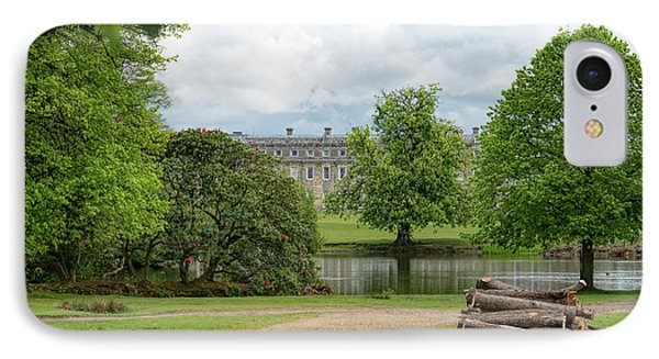 Petworth House On Lake Phone Case by Michael Hope