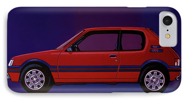 Peugeot 205 Gti 1984 Painting IPhone Case